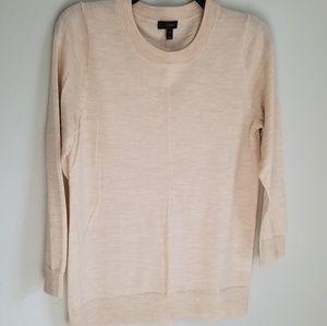 J.Crew Merino Wool Cream Crew Sweater